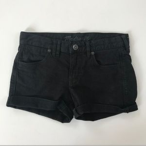 Madewell Black Denim Cut-off shorts - size 24